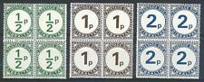Gibraltar 1971 Sc# J4-6 set Postage due blocks 4 MNH