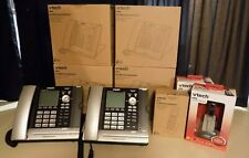 Eris Business Vtech Up416 4 Line Phone Is6100 Headset U407 Handset New Lot Of 9