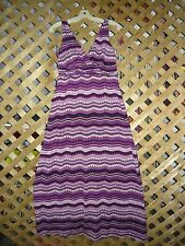 Olivia Matthews Black & Purple Designed Stretch Sleeveless Dress Size 6 NEW