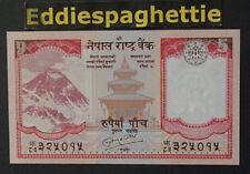 NEPAL 5 RUPEES 2010  SIGN 19 UNC P-60b