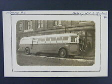 Highway Post Office HPO Bus Albany NY Rutland VT Real Photo Postcard RPPC 1940s