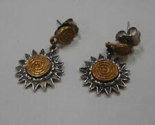 "earrings ""Rsd"" 107-L sterling silver signed"