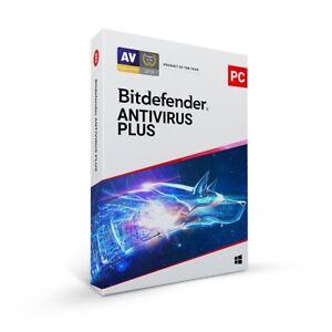 Bitdefender Antivirus Plus 2020 / 2021 Windows - 1 PC & 3 PC - 1 Year to 4 Years