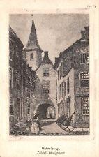 R270323 P. Matthes. Middelburg. Zuidel. Abdijpoort. Uitgave van W. de Haan Utrec