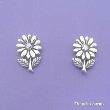 925 Sterling Silver DAISY FLOWER EARRINGS Post Stud - se522