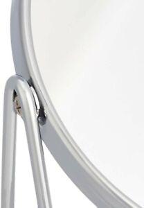 Kosmetikspiegel mit rechteckiger Bambus-Ablage, Vergrößerung 1-fach/5-fach
