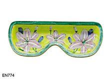KELVIN CHEN Enamel Copper Handpainted Eyeglasses Tray Holder Asiatic Lily Flower