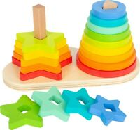 Wooden Rainbow 2 in 1 Stacking Tower Game Toy Christmas Gift **REDUCED**