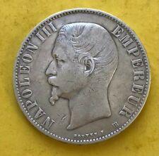 5 Francs Ecu Napoléon III Tête nue 1856 BB