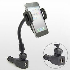 2 USB Car Cigarette Lighter Mount Holder Charger For Samsung Galaxy S3 S4 OK
