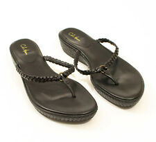EUC Cole Haan Leather Black Thong Sandals