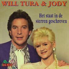 """7"""" WILL TURA & JODY PIJPER Het staat in de Sterren geschreven DINO Dutch NL 1991"""