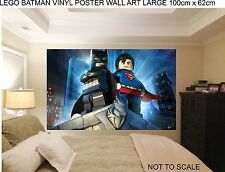 LEGO BATMAN ROBIN  WALL ART 100cm wide childrens bedroom wall art stickers.