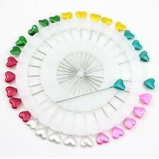 1Roll Heart Head Straight Steel Pin Needle Kit For Sewin Draping Hijab DIY Craft