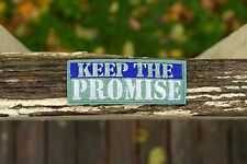 "Keep The Promise Girl Scouts Embroidered Patch 3"" x 1 1/4"""