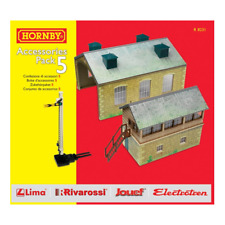 Hornby – HO Scale Accessories Pack 5 Engine Shed Signal Box Distant Signal