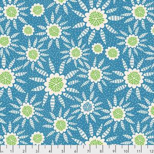 Triple Take - New Joy Free Spirit Cotton Quilt Fabric PWAM021 Robin Blue