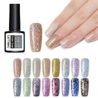 LEMOOC 8ml Funkeln Gellack Sequins Shimmer Soak Off Nagel Kunst UV Gel Polish