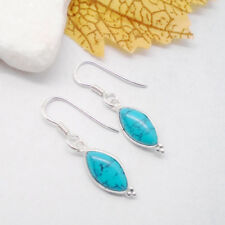Mohave Türkis blau Avantgarde Design Ohrringe Ohrhänger 925 Sterling Silber neu