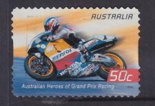 AUSTRALIA 2004 50c Motorcycles.  FINE USED(d)