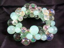 Fabulous New Seafoam Green Colored Bubble Statement Bracelet #B1384