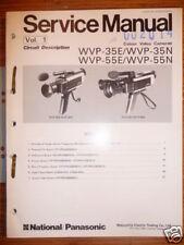 MANUAL DE SERVICIO Panasonic wvp-35e/35n/55e/55n , original