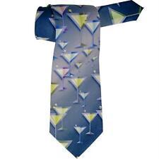 Martini Glasses All Over Neck Tie