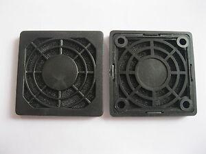 4 pcs Dustproof Dust Filter For 50x50mm DC Fan Black 50mm 5cm New