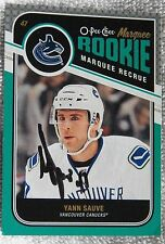 Vancouver Canucks Yann Sauve Signed 11/12 O-Pee-Chee Marquee Rookie Card Auto