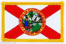 Ecusson Brodé PATCH drapeau FLORIDE FLORIDA USA ETATS UNIS FLAG EMBROIDERED