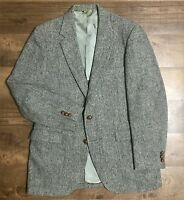 Harris Tweed Stafford Gray Two Button Men's Sport Coat Blazer Jacket Sz 40 ?