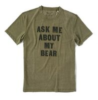 Lucky Brand Men's L - NWT$49 - Olive Green Ask About my Bear Venice Burnout Tee