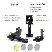 CO2 Laser Head Holder Mount + Focus Lens + Reflective Mirror Engraver Parts Kit