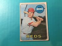 PETE ROSE 1969 TOPPS BASEBALL CARD #120 CINCINNATI REDS Creased Fair Condition