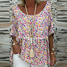 Womens  Loose Blouse T Shirt Ladies Summer Baggy Pullover Tops Plus