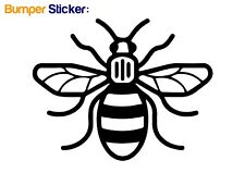 Manchester Bee Bumper Car ipad Sticker (BLACK) - HIGH QUALITY VINYL DECAL