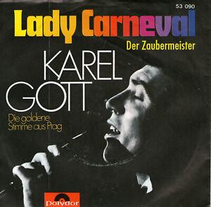SINGLE   KAREL  GOTT - LADY  CARNEVALL ,7inch