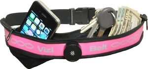 Vizi Belt Pink LED Light Up Running Belt Fanny Pack Storage Pockets for Phone