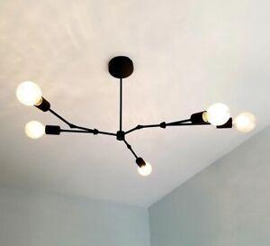 Modern Sputnik Industrial Chandelier Branch Mid Century Ceiling Fixture Lamp