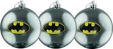 BATMAN - Batman Logo Christmas Ornament/Bauble Set (3) by Ikon Collectables #NEW