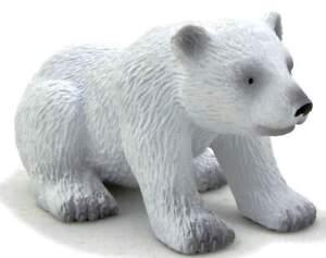 Polar Bear Baby Sitting 2 3/8in Wild Animals Mojo 387021