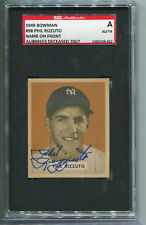 1949 Bowman #98 Phil Rizzuto NOF signed autographed SGC Authentic Clean Card