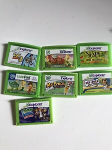 7 Leapfrog LeapPad Explorer Games lot toy story school reading Mr. pencil tink