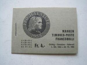 Schweiz Markenheft Nr. 38 b von 1953 in Postfrisch (2)