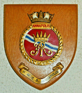 HMCS Annapolis shield plaque crest Royal Canadian Navy RCN naval RN HMS