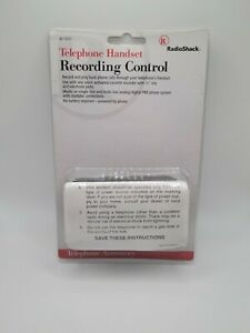 Radio Shack Telephone Handset Phone Mini Recording Control (43-1237)