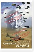 Operation Iraqi Freedom Target Saddam Hussein In Crosshairs Paratroopers Poster