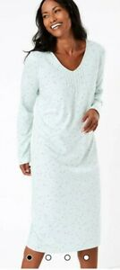 MARKS + SPENCER Cool Comfort MINT MIX Cotton Modal Spot Print Nightdress 6 BNWT