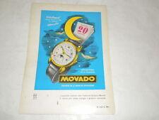 """PUBBLICITA' VINTAGE DEGLI ANNI '50-OROLOGI """"MOVADO"""" RARA INTROVABILE   (1)"""