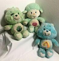 Vintage 1983 Kenner Care Bear Plush Lot Wish, Cousin Gentle Heart Good Luck Bear